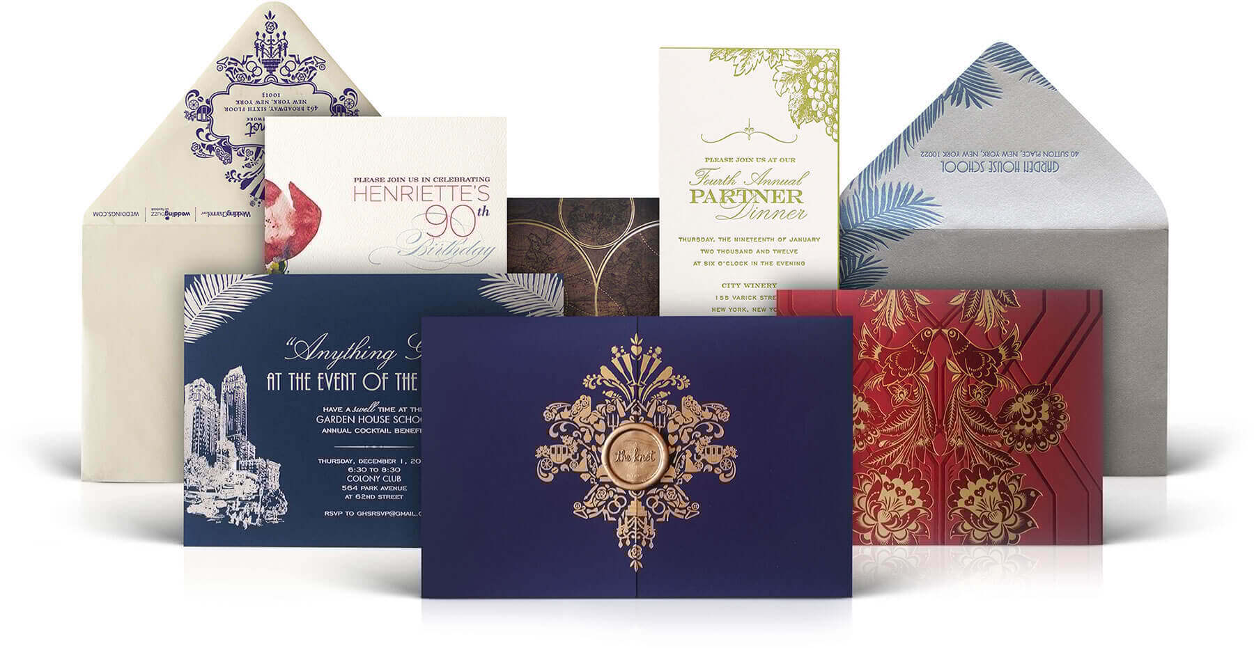 Social and corporate invitations and stationery