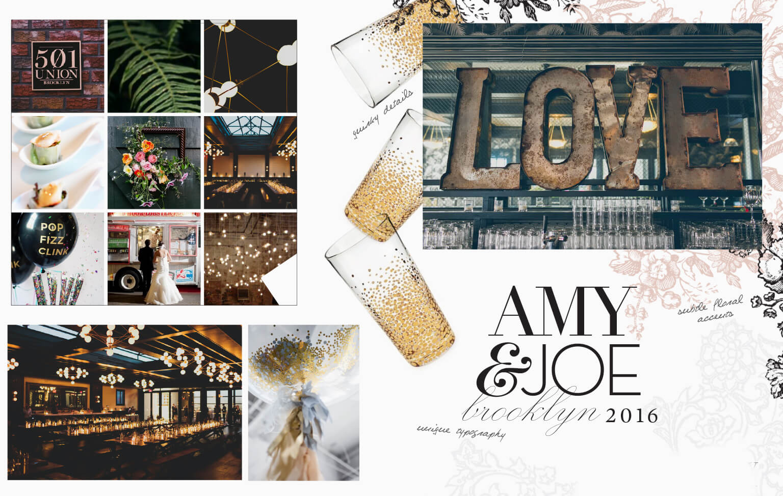501 Union inspired wedding imagery