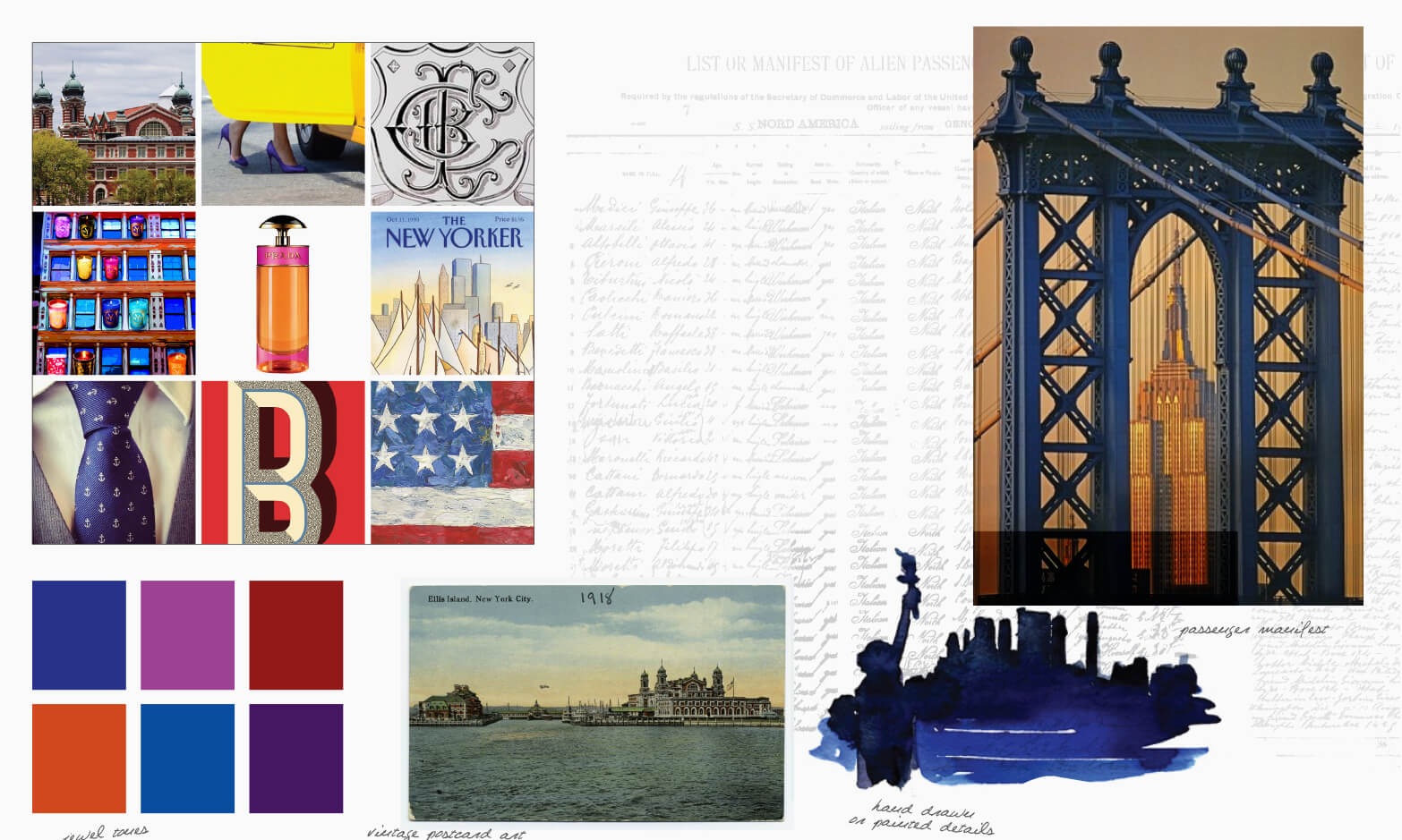 George Washington Bridge and Americana inspiration