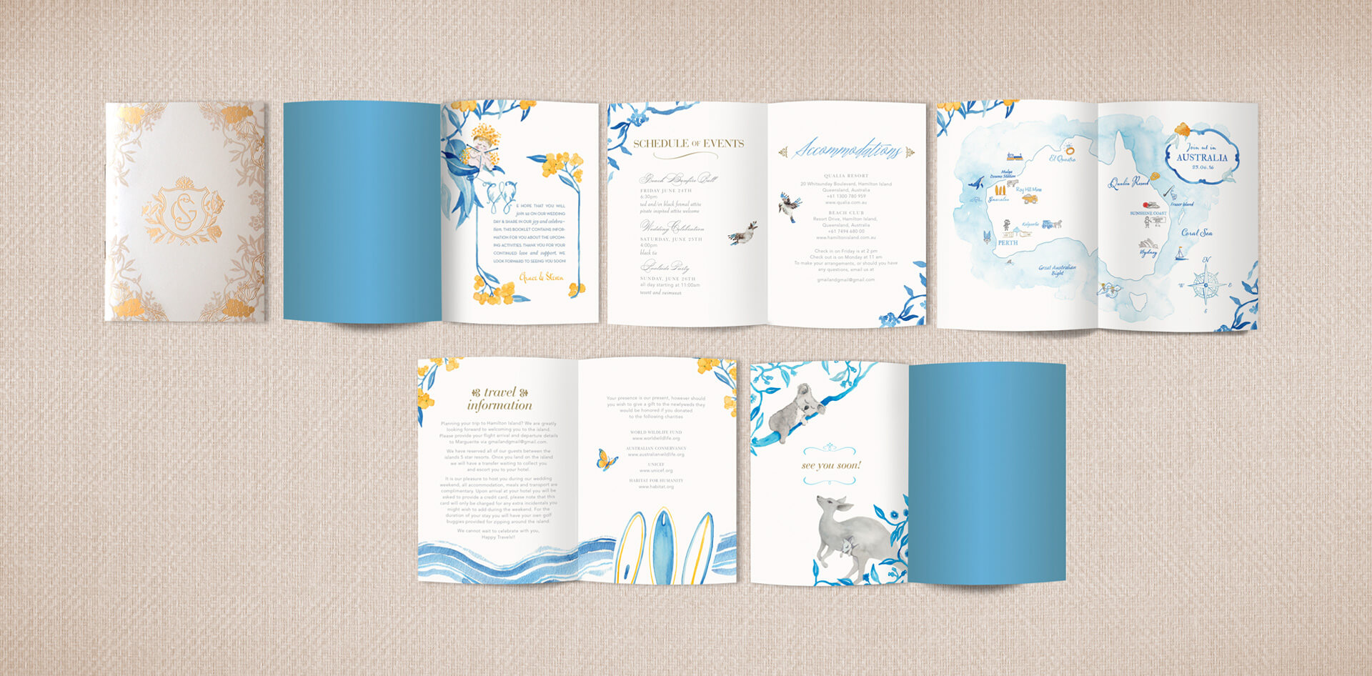 Australia destination wedding booklet