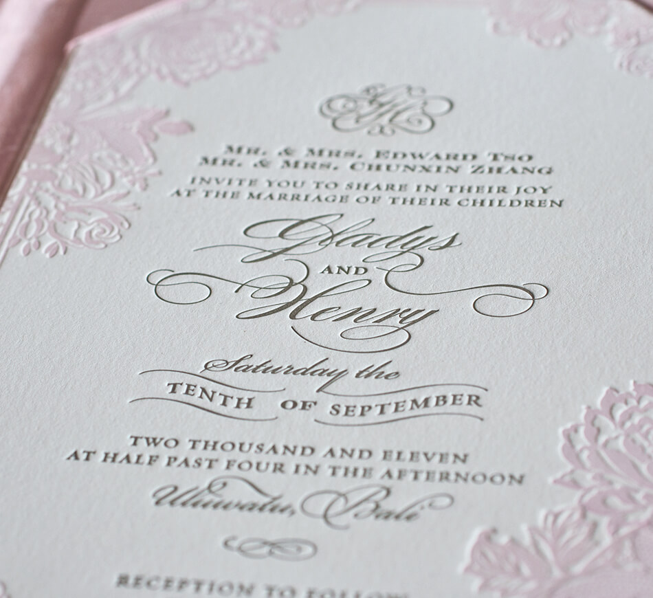 Blush pink and romantic lettering