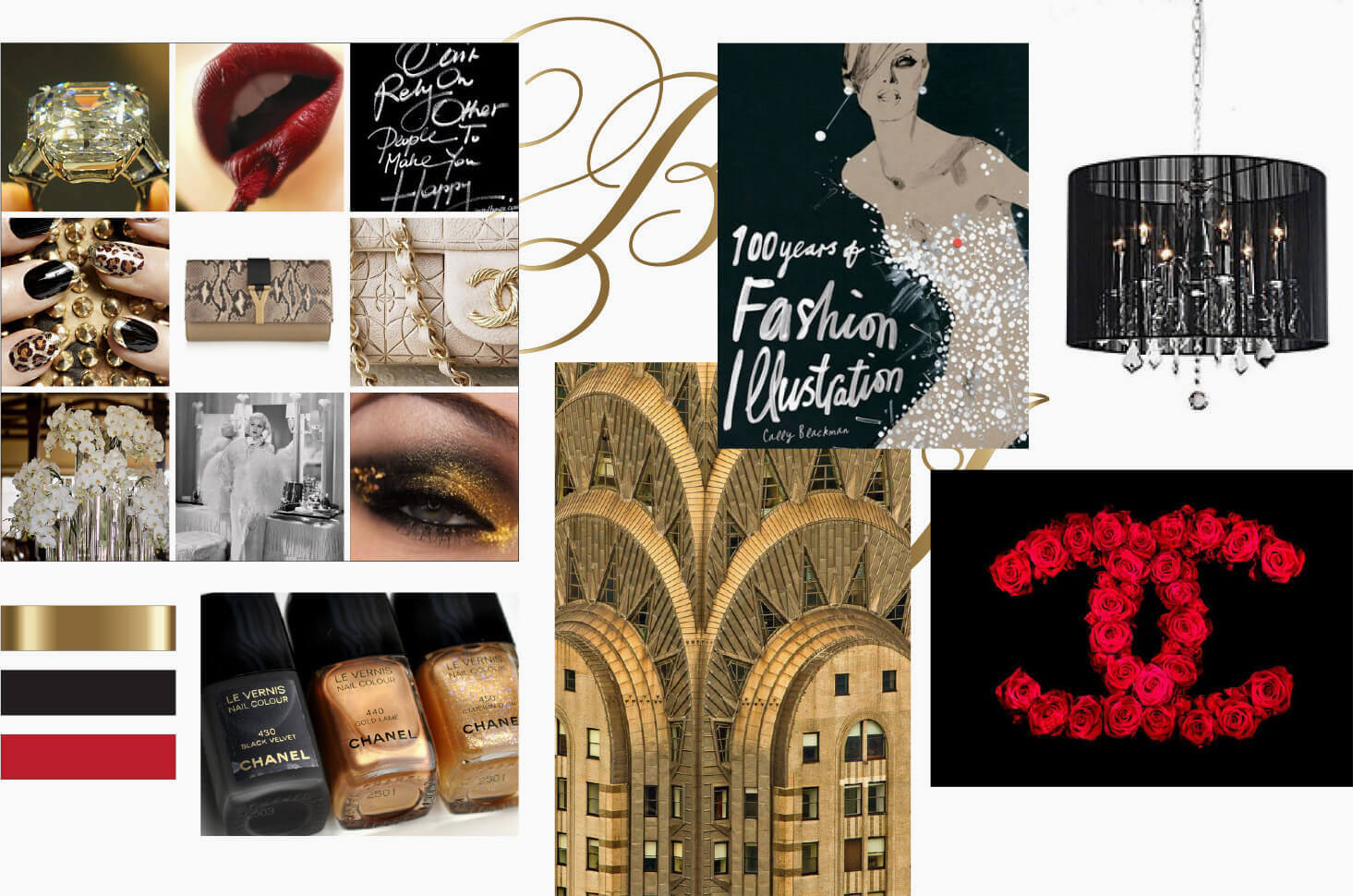 Fashion, design and Chanel inspired moodboard
