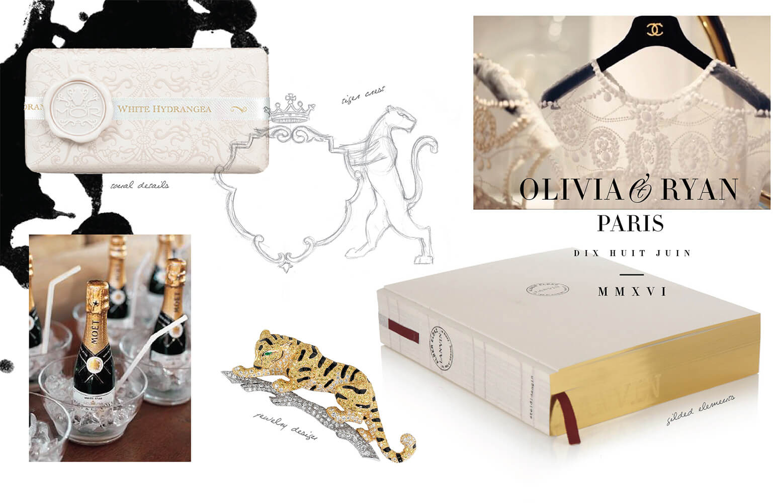 Gold and white luxe inspiration