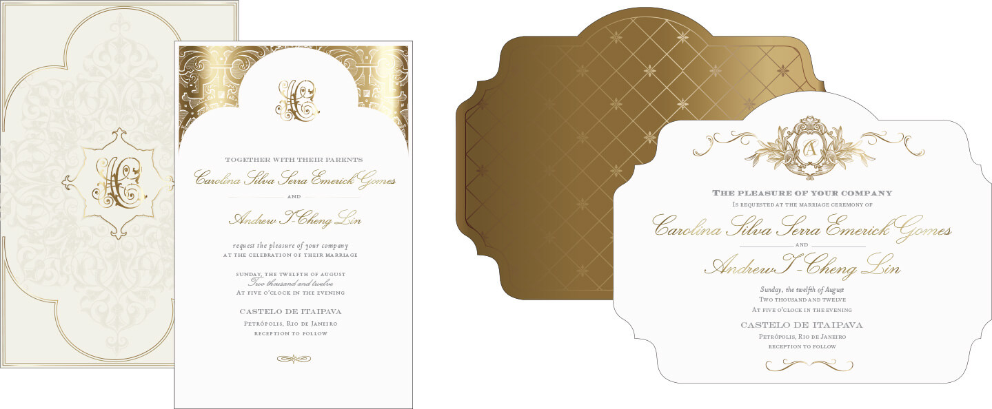 Gold and ivory invitation design alternate