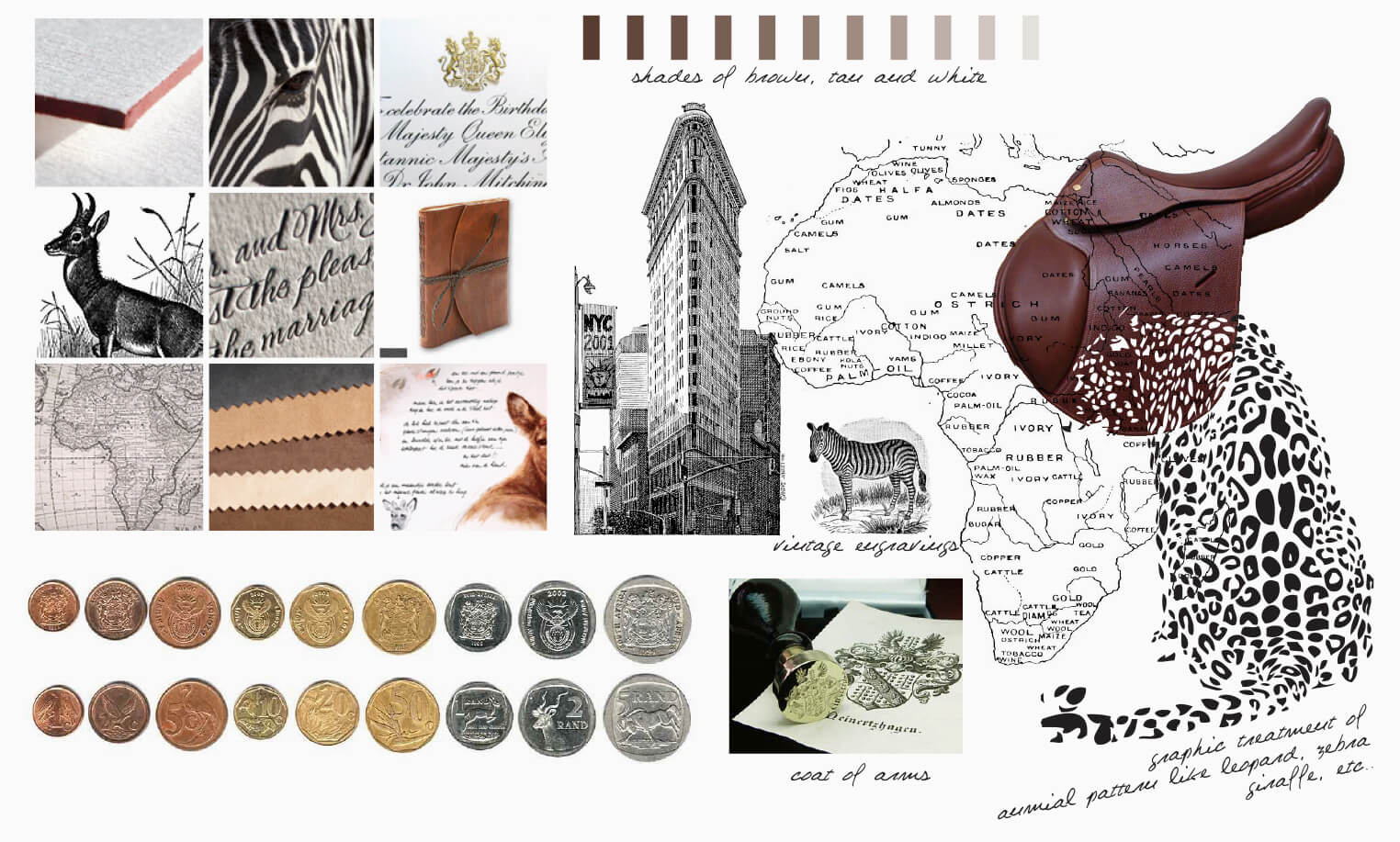 Leopard and Flatiron building inspiration board