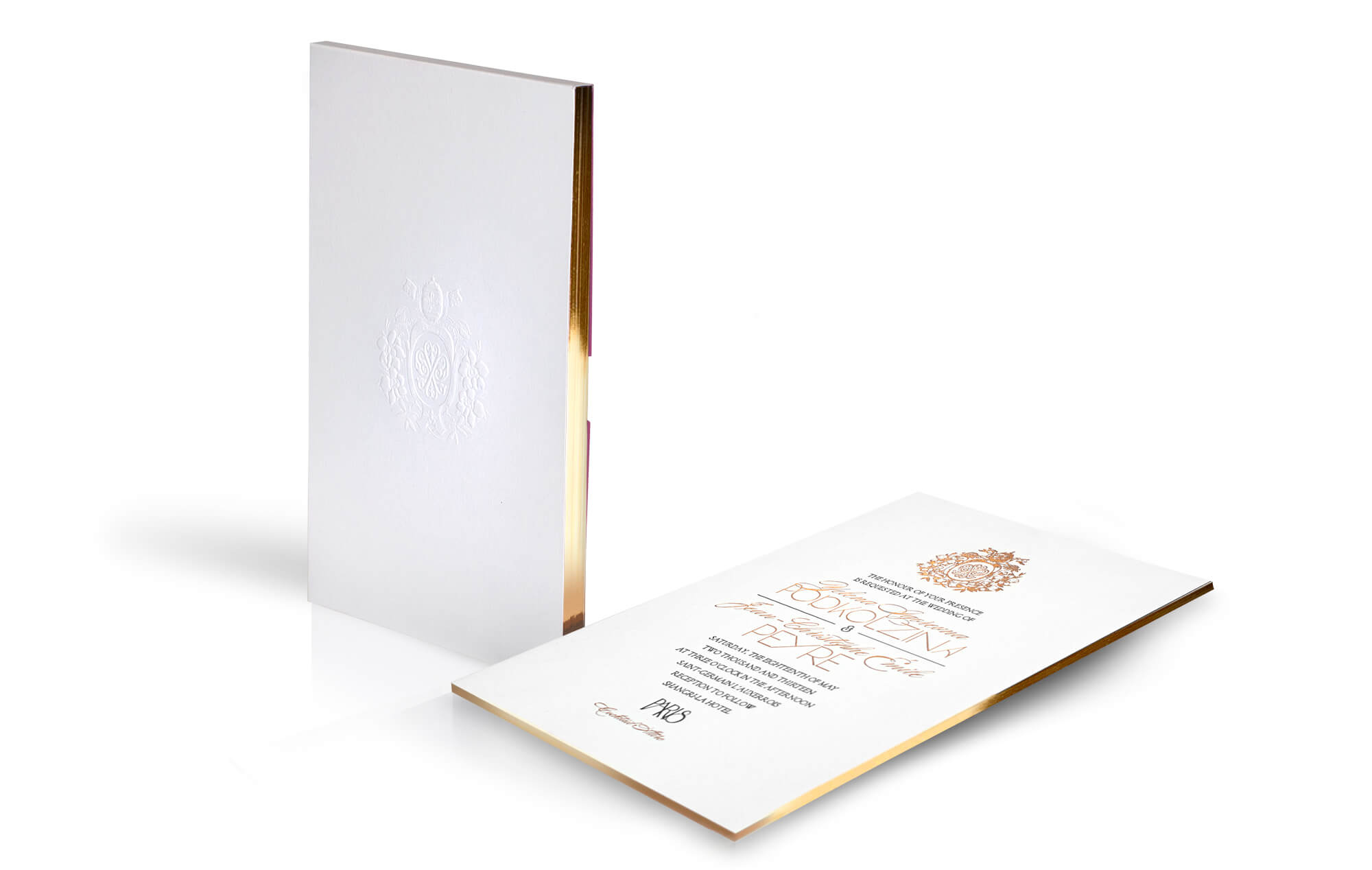 Luxe Paris wedding invitation