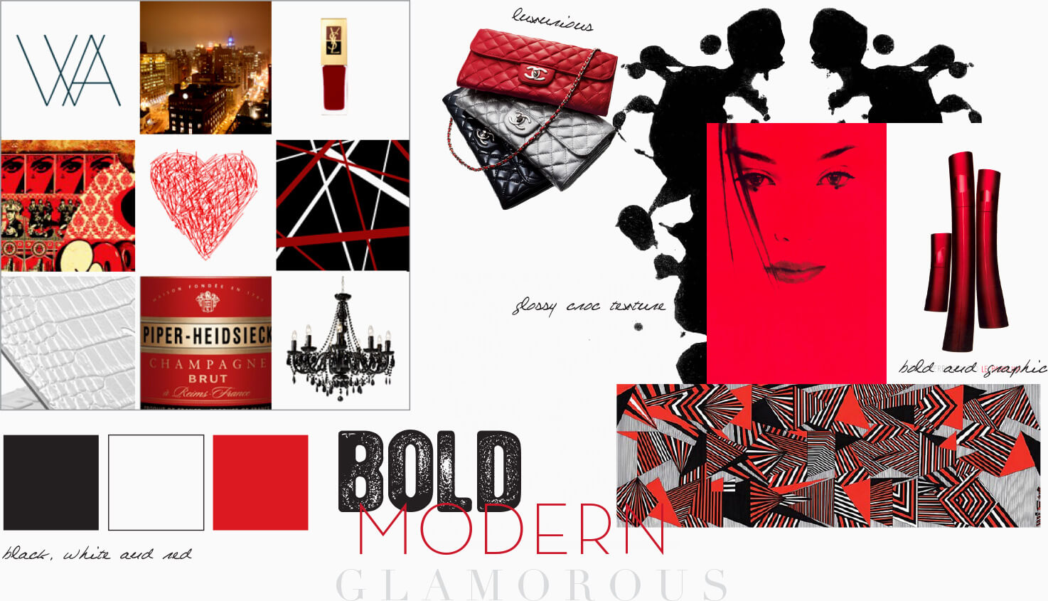 Modern art inspiration and moodboard