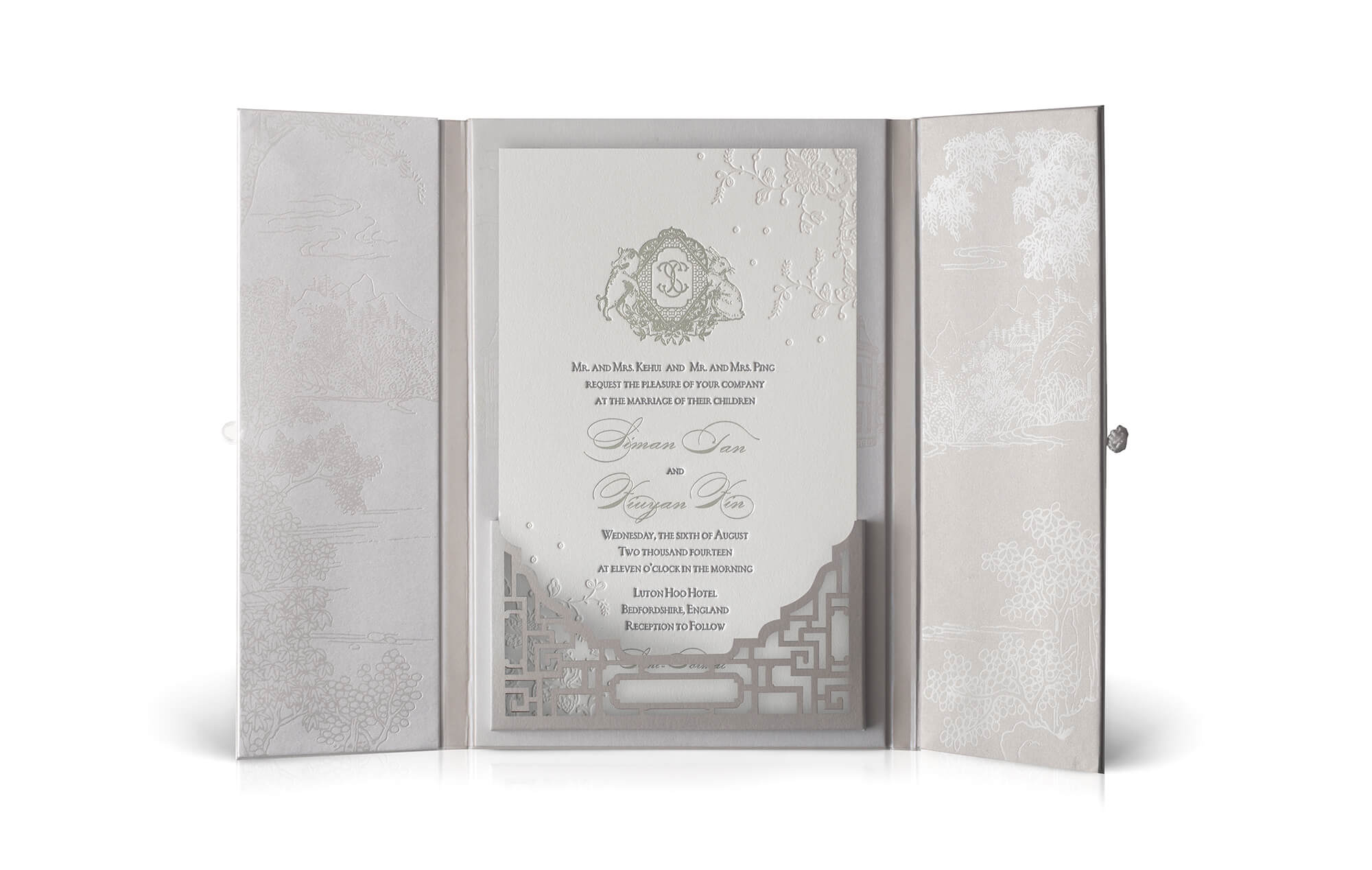 Modern Chinese wedding invitations
