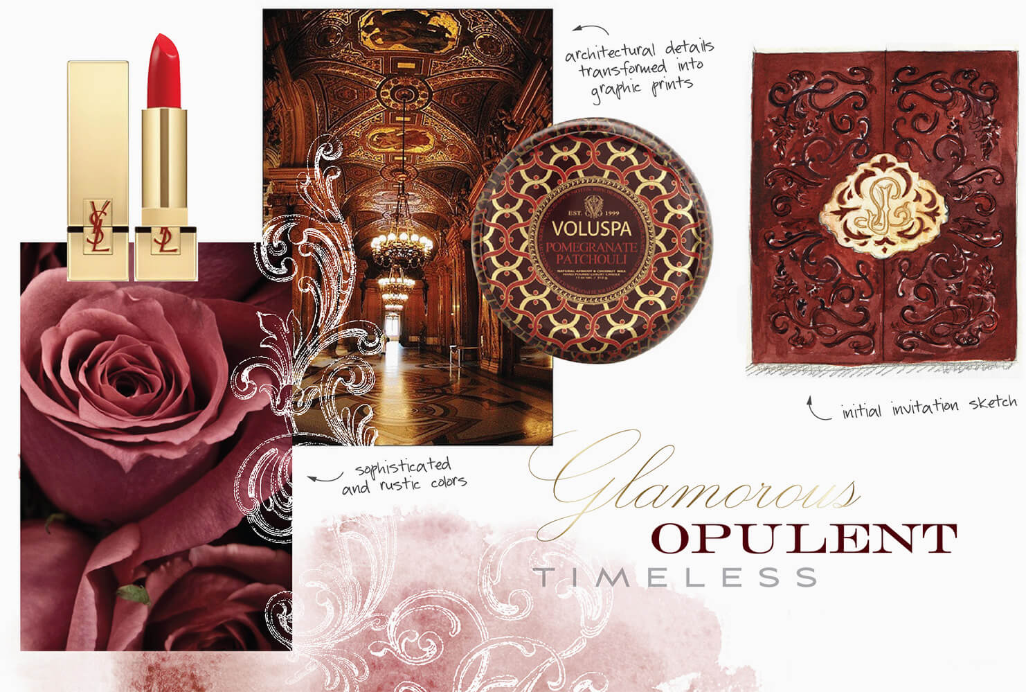Ornate burgundy and gold inspiration
