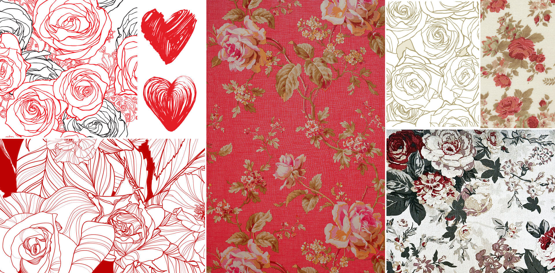 Rose floral pattern inspiration research
