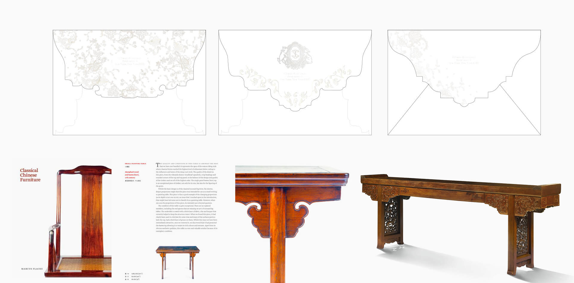 Designs inspired by Chinese furniture and historical art