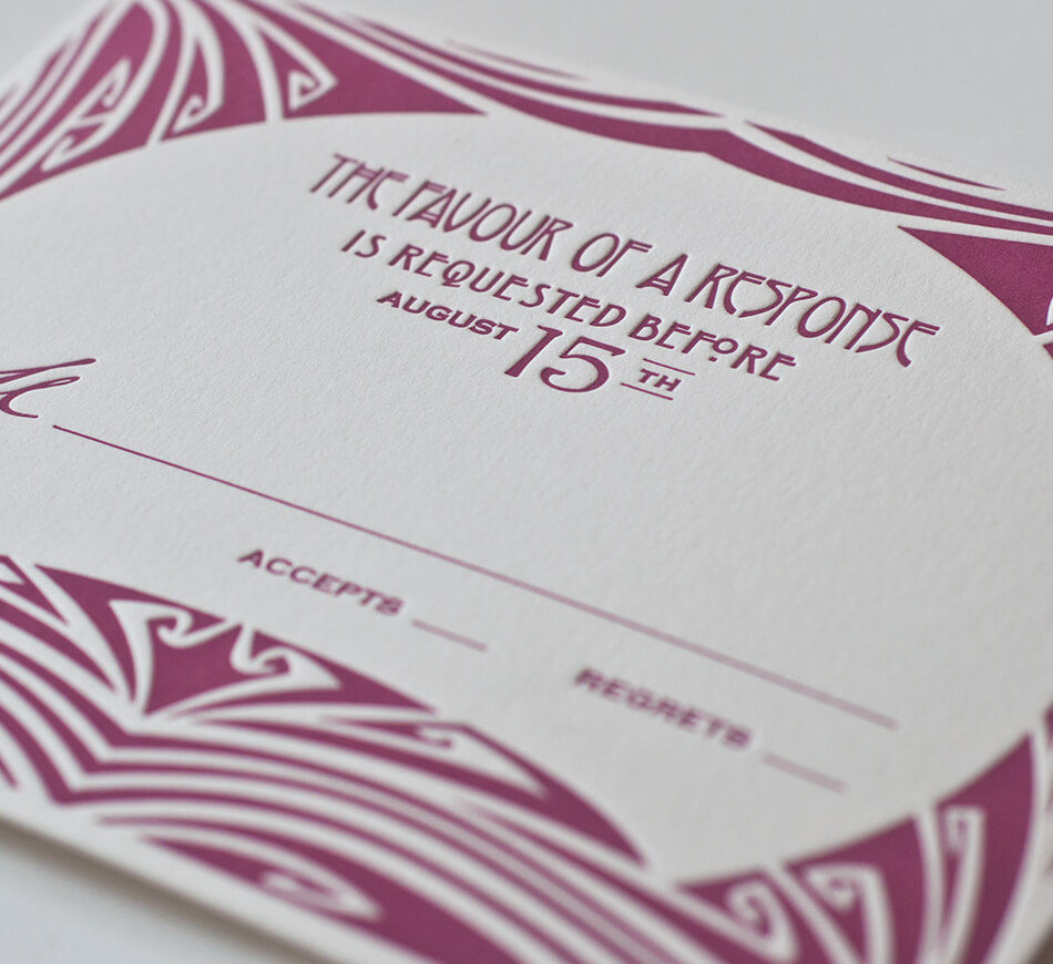 Art Nouveau Reply Card