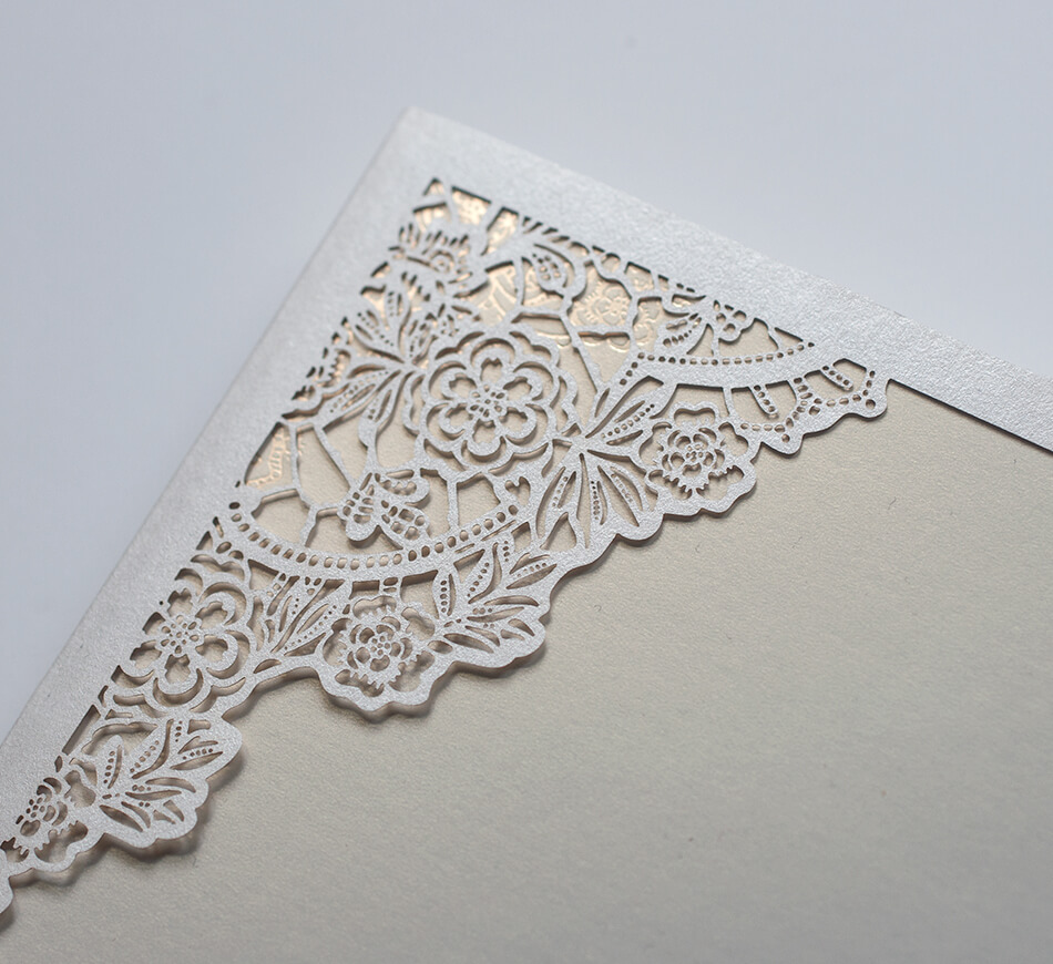 Floral lace inspired laser cutting