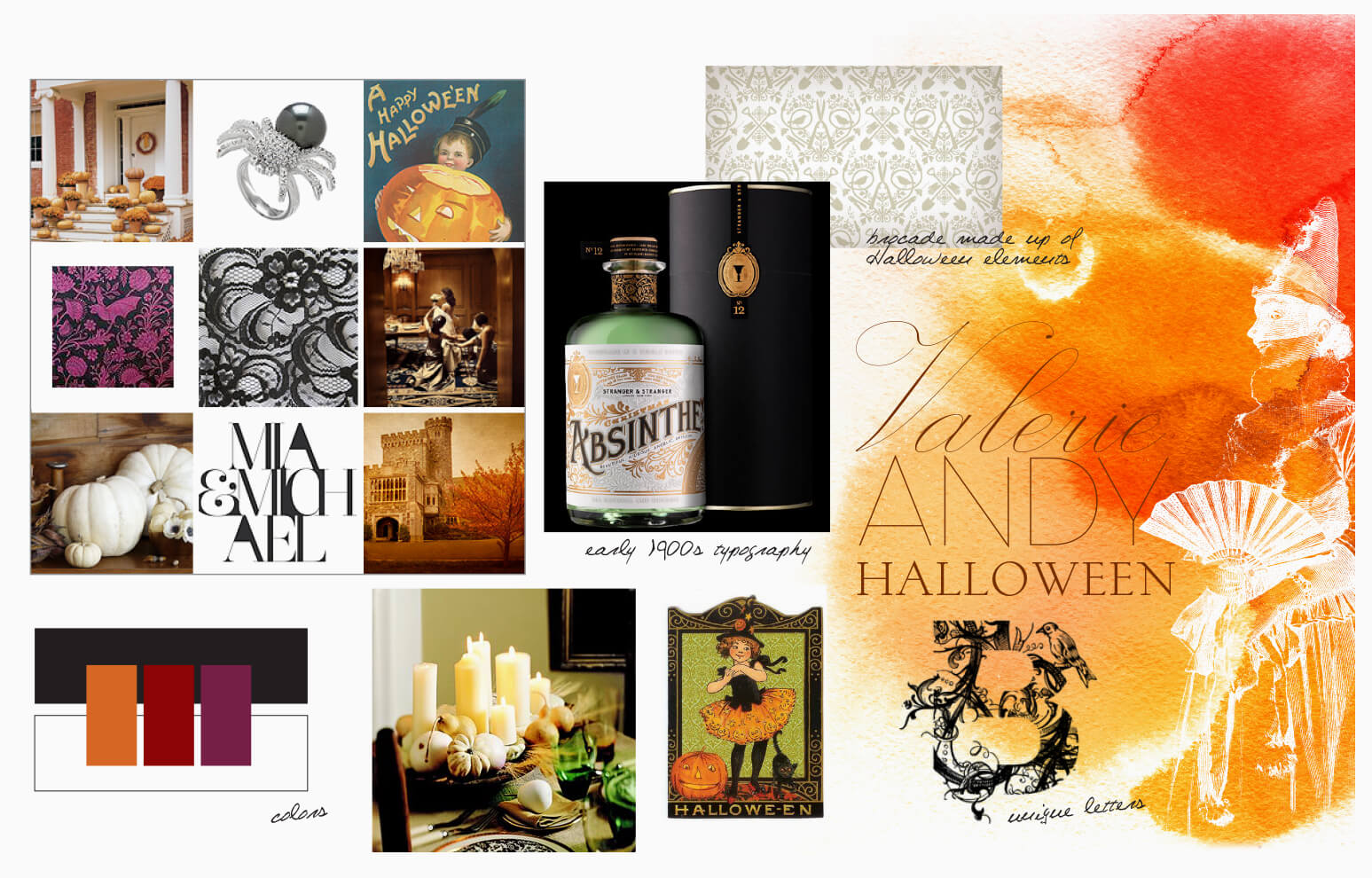 Absinthe packaging and spooky inspiration