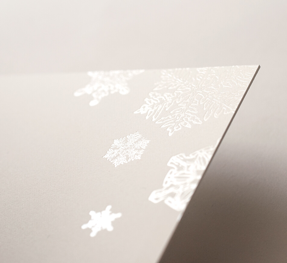 Pearl foil snowflakes