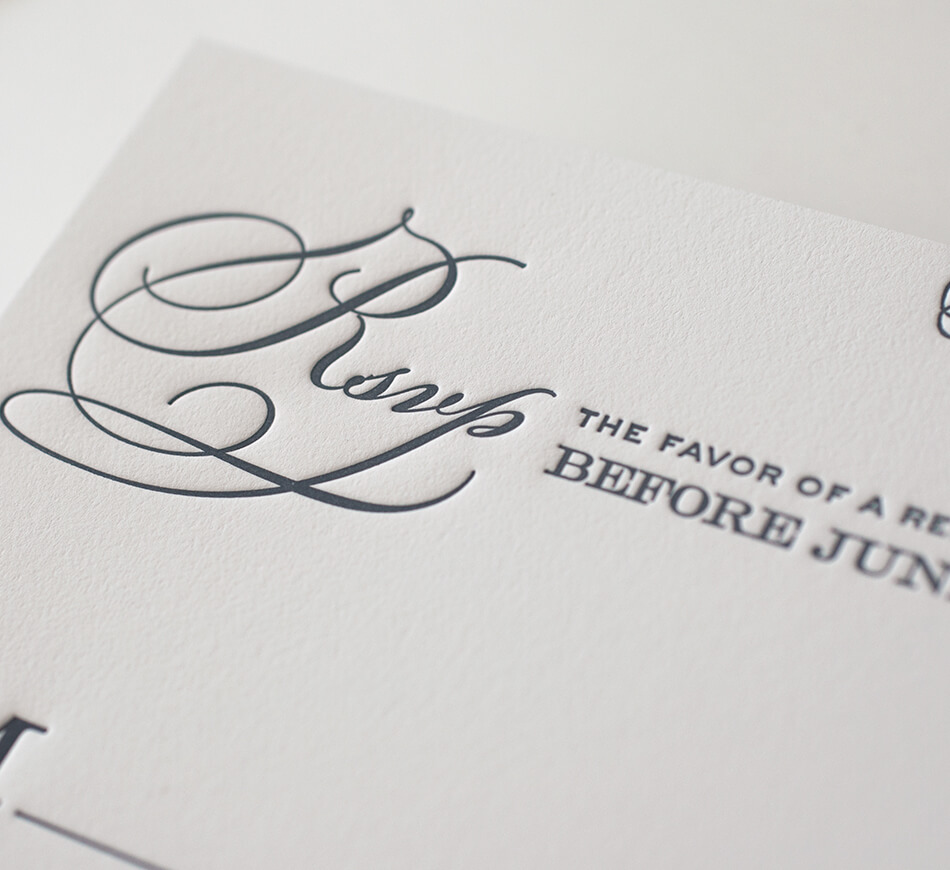 Reply card script typography