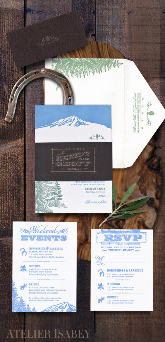 Rustic ranch chic wedding invitations