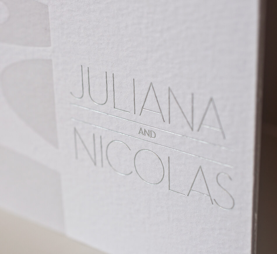 Silver foil modern typography