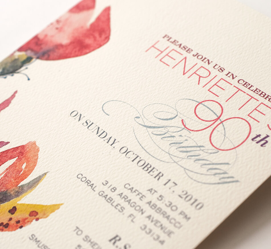 Contemporary typography and florals