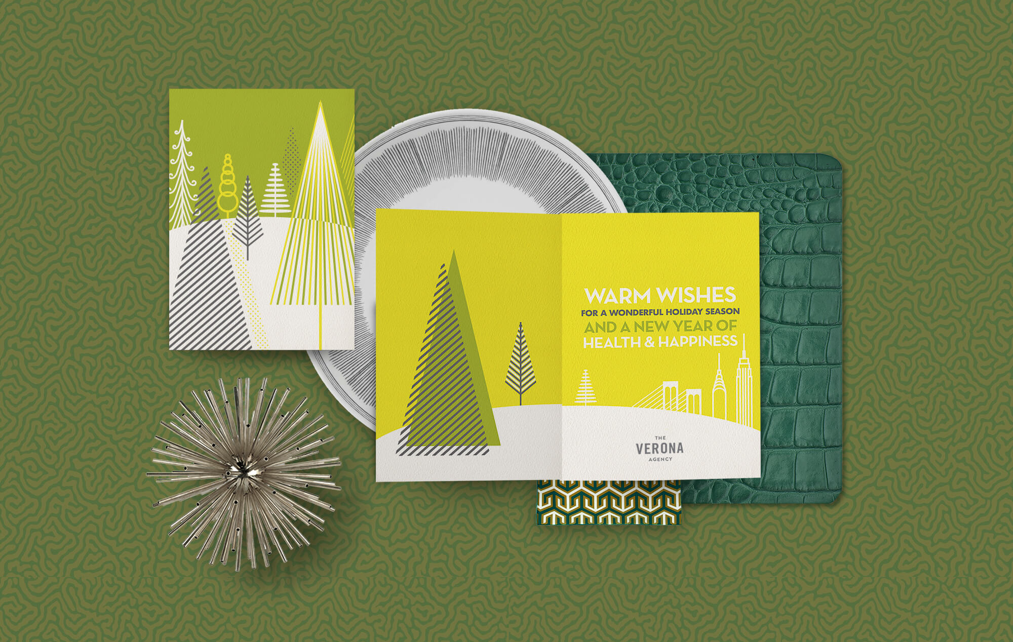 Contemporary corporate holiday greeting cards