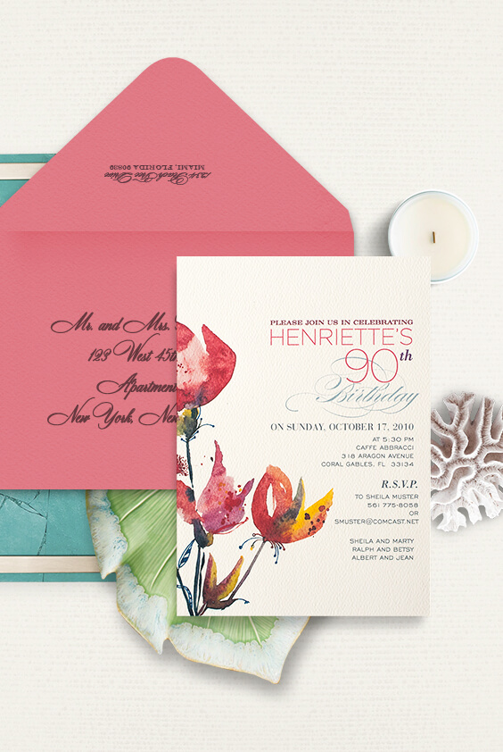 90th Birthday party invitation | by Atelier Isabey
