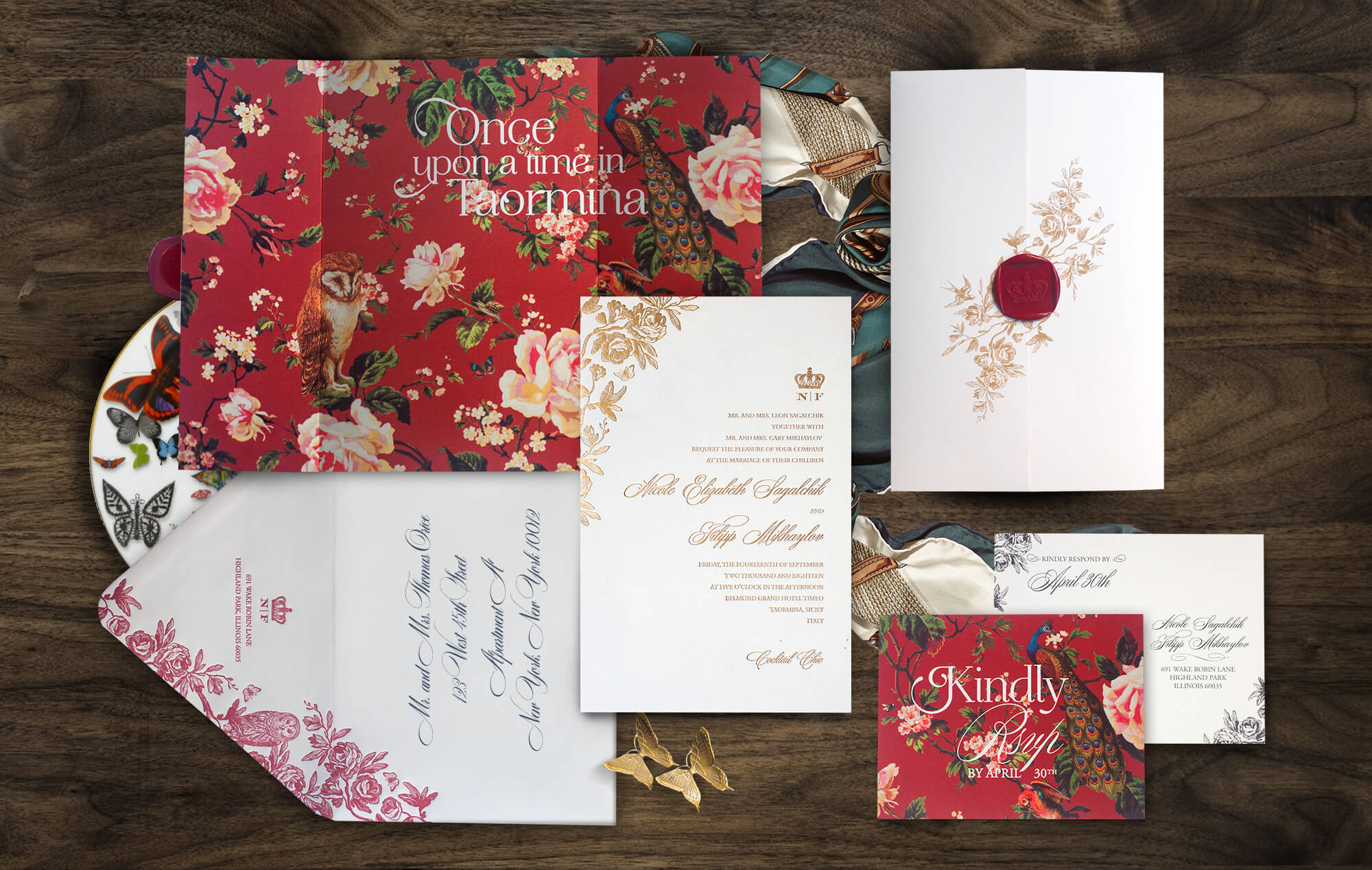 Sicily Italy wedding invitation