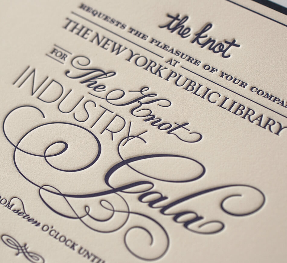 The Knot Industry Gala invitation card