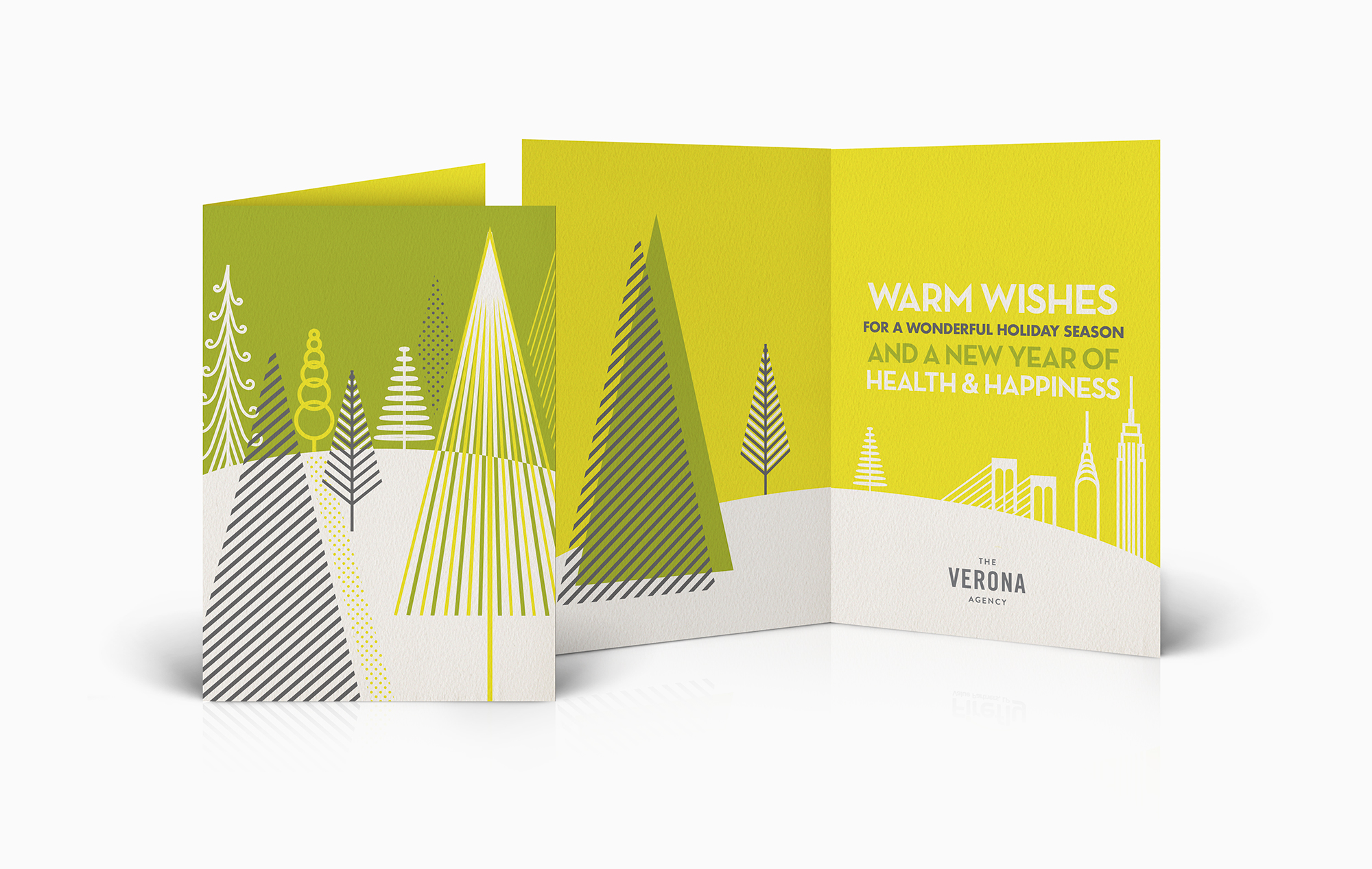 Bright modern season's greetings cards