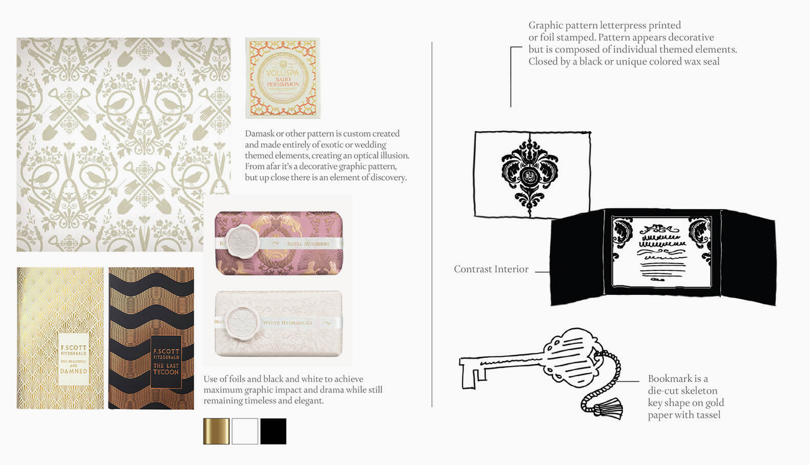 Pattern design and invitation inspiration