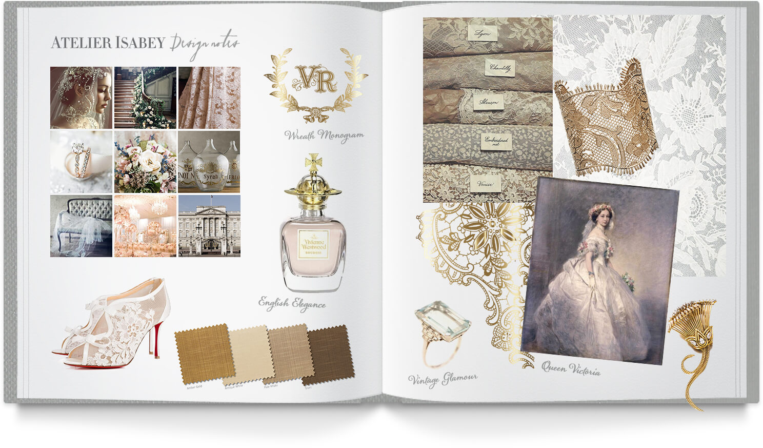 Vintage lace and romantic inspiration