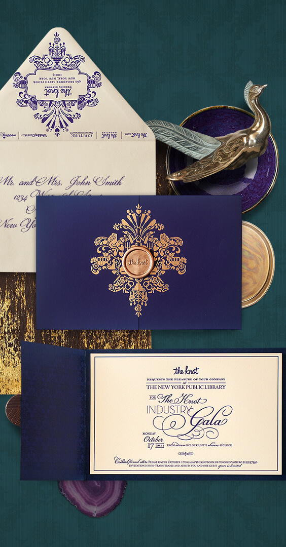 Invitation for The Knot Gala in New York | By Atelier Isabey