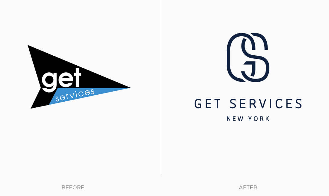 Set Services logo before and after