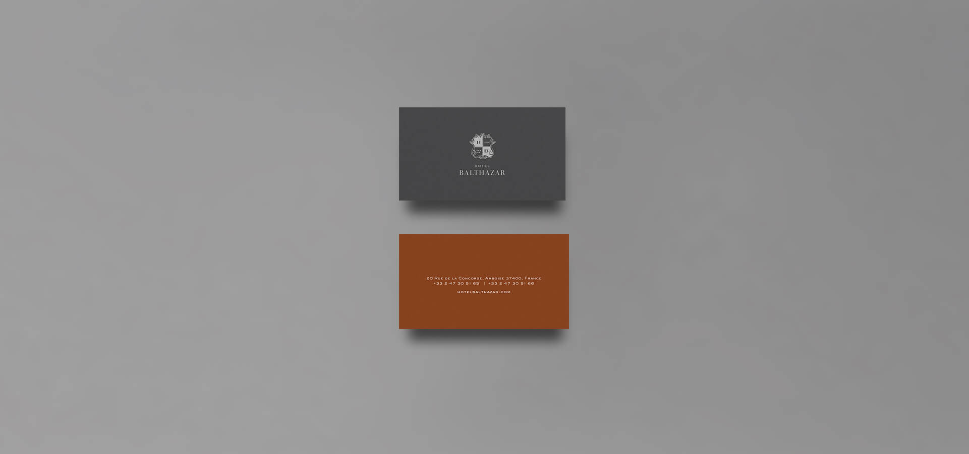 Luxury hotel business cards
