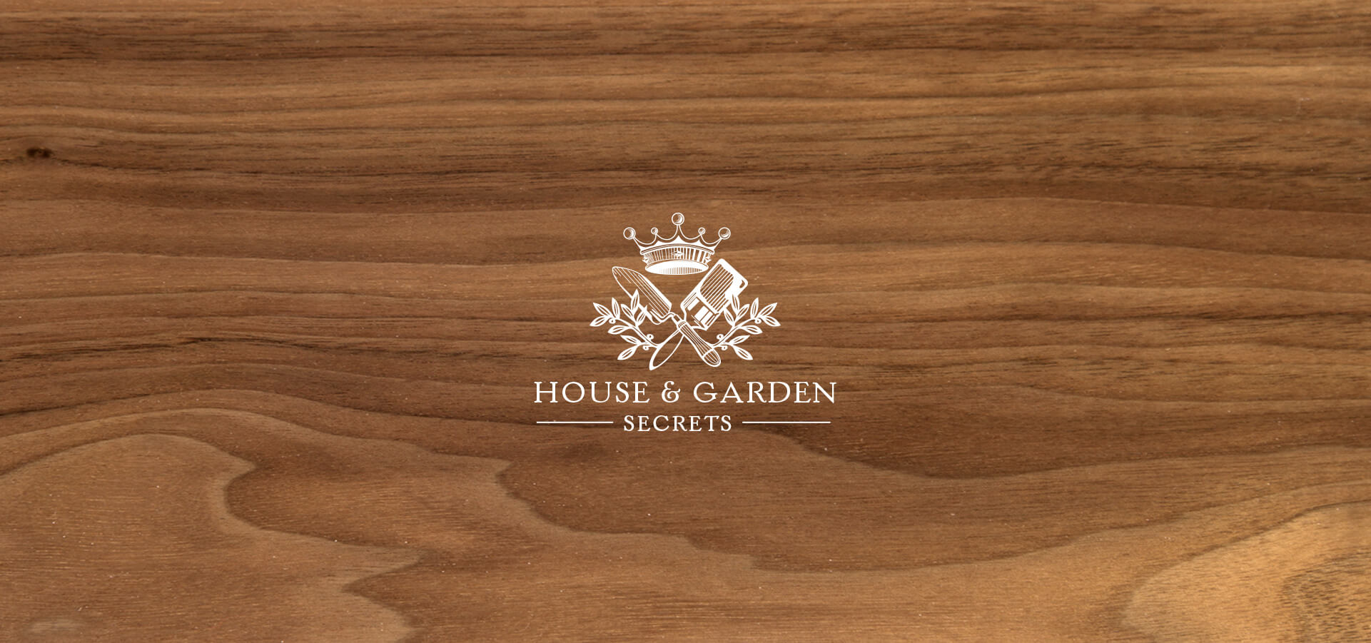 House and garden service company logo design and identity