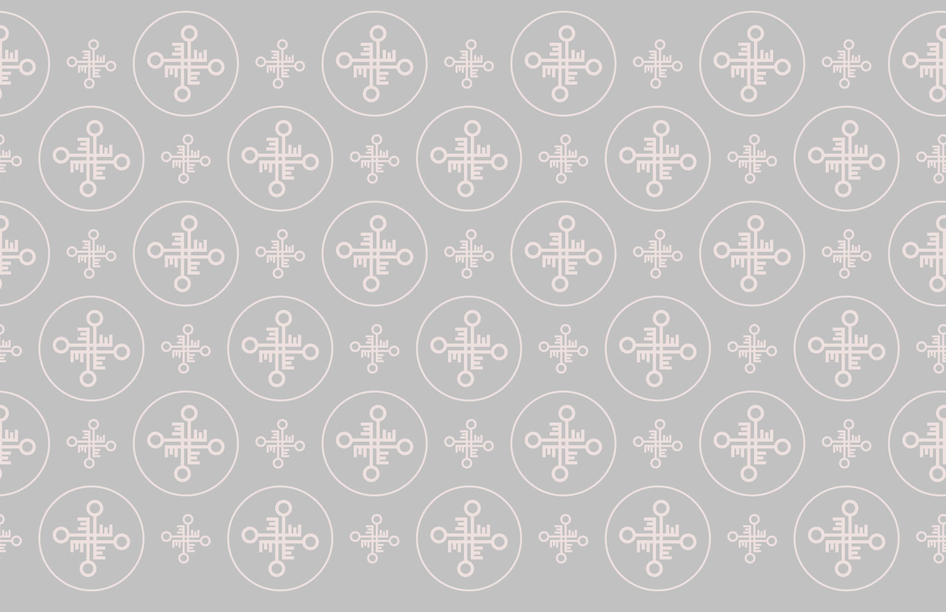 Escapes monogram pattern design