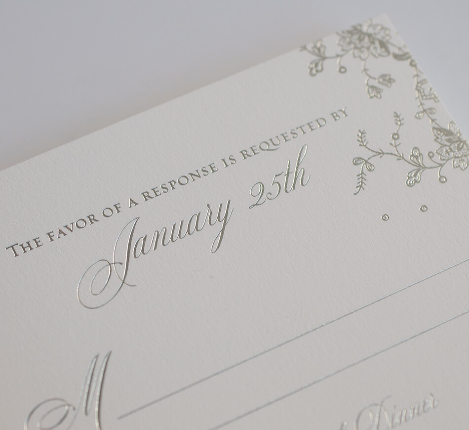 Lace reply card detail