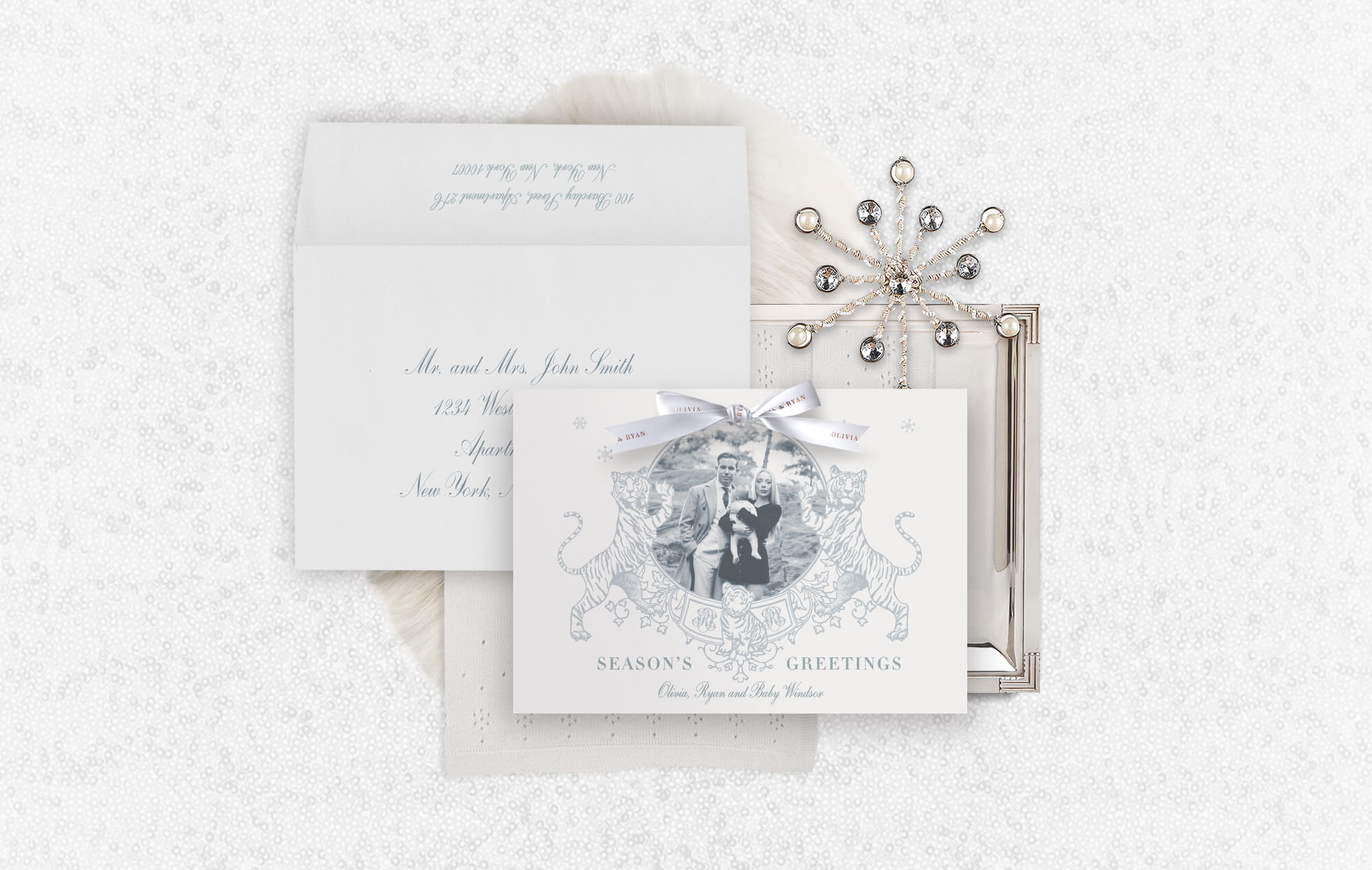 Elegant luxe holiday cards