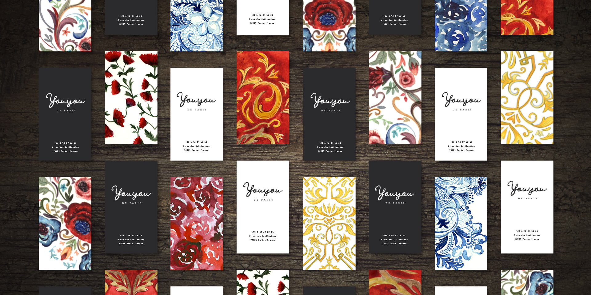 Fashion label business cards