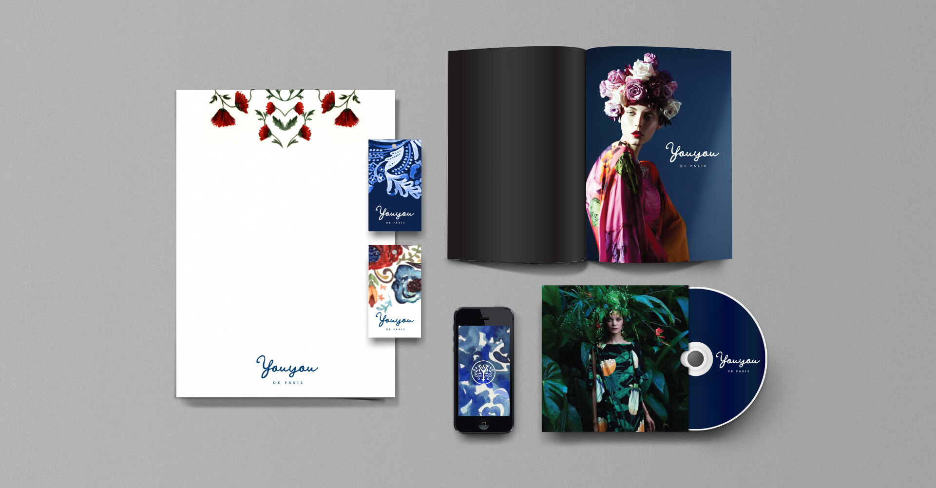 Fashion label stationery and corporate identity