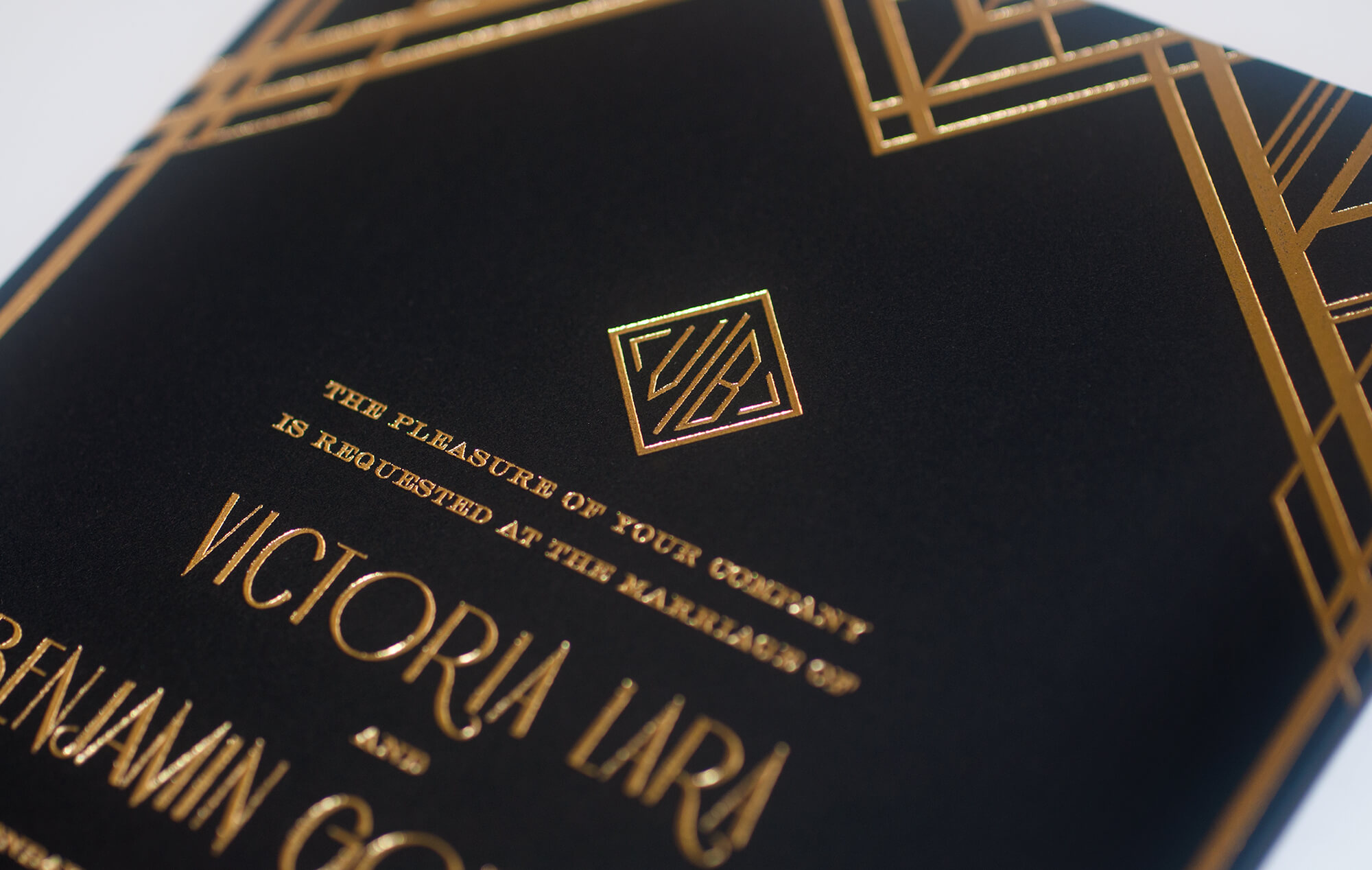 Gold Art Deco typography