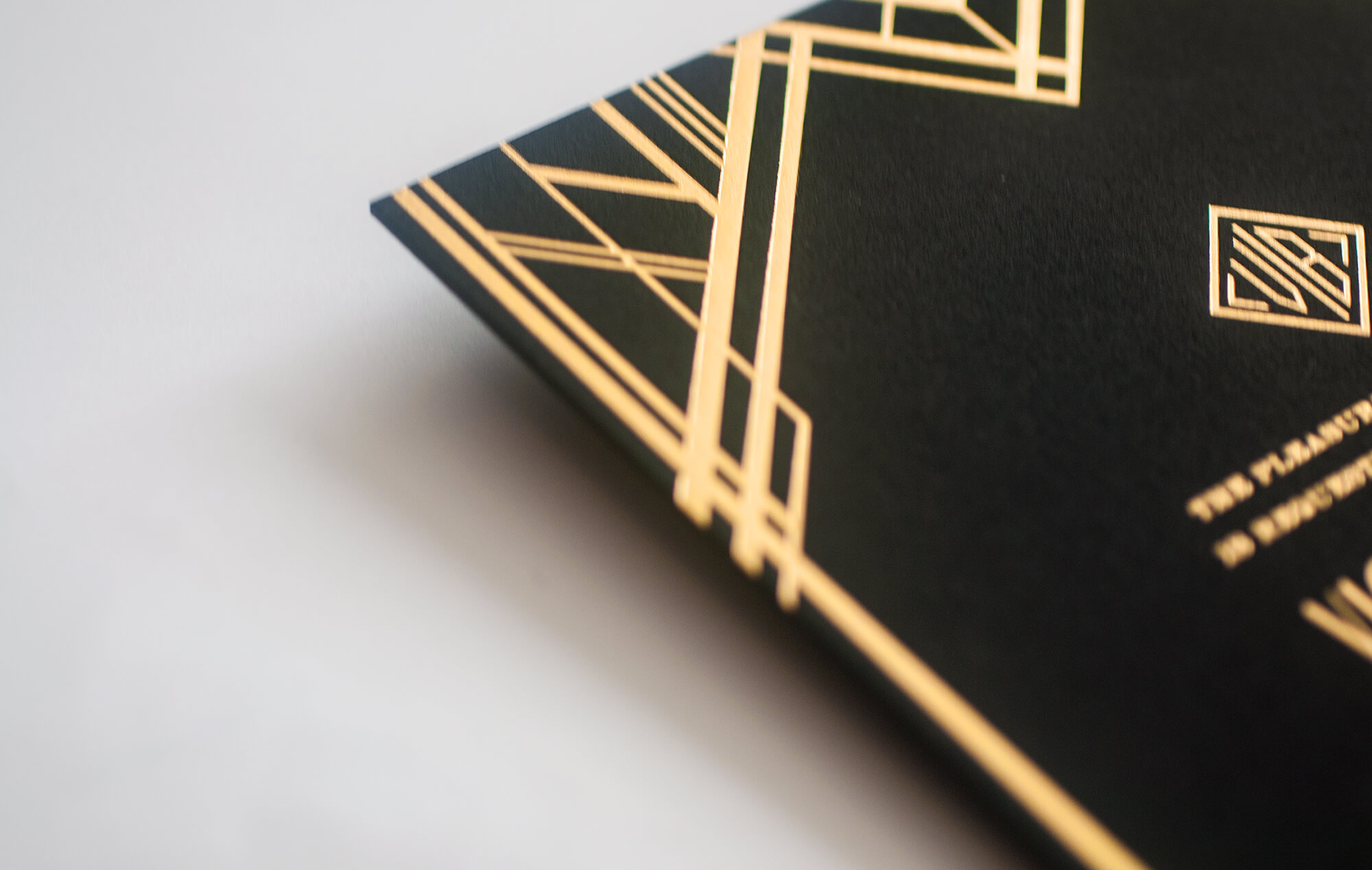 Gold foil Great Gatsby linework