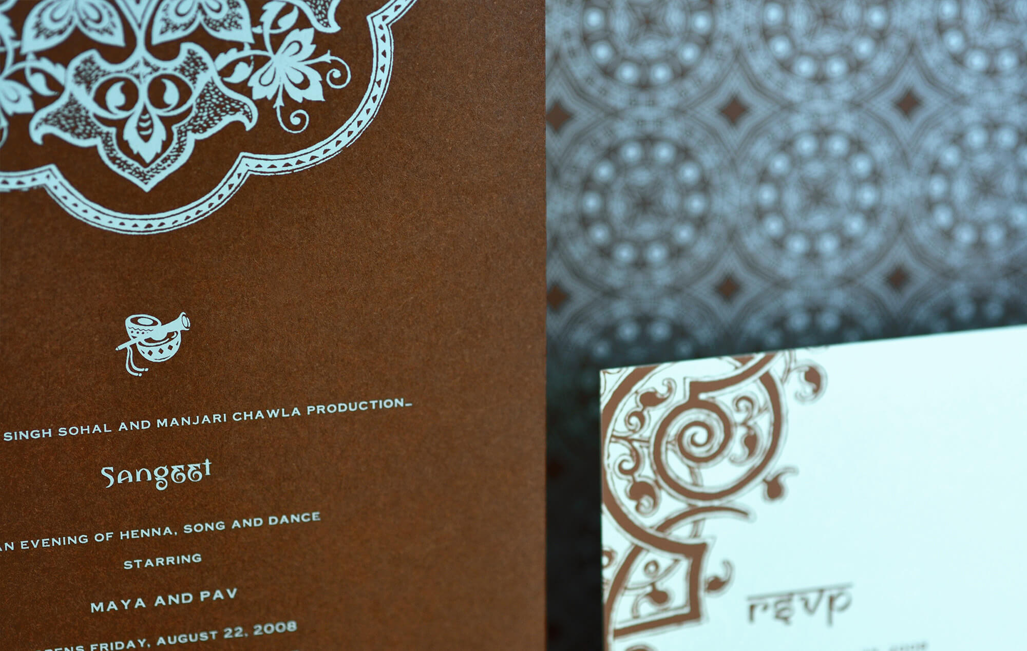 Sangeet card and reply card
