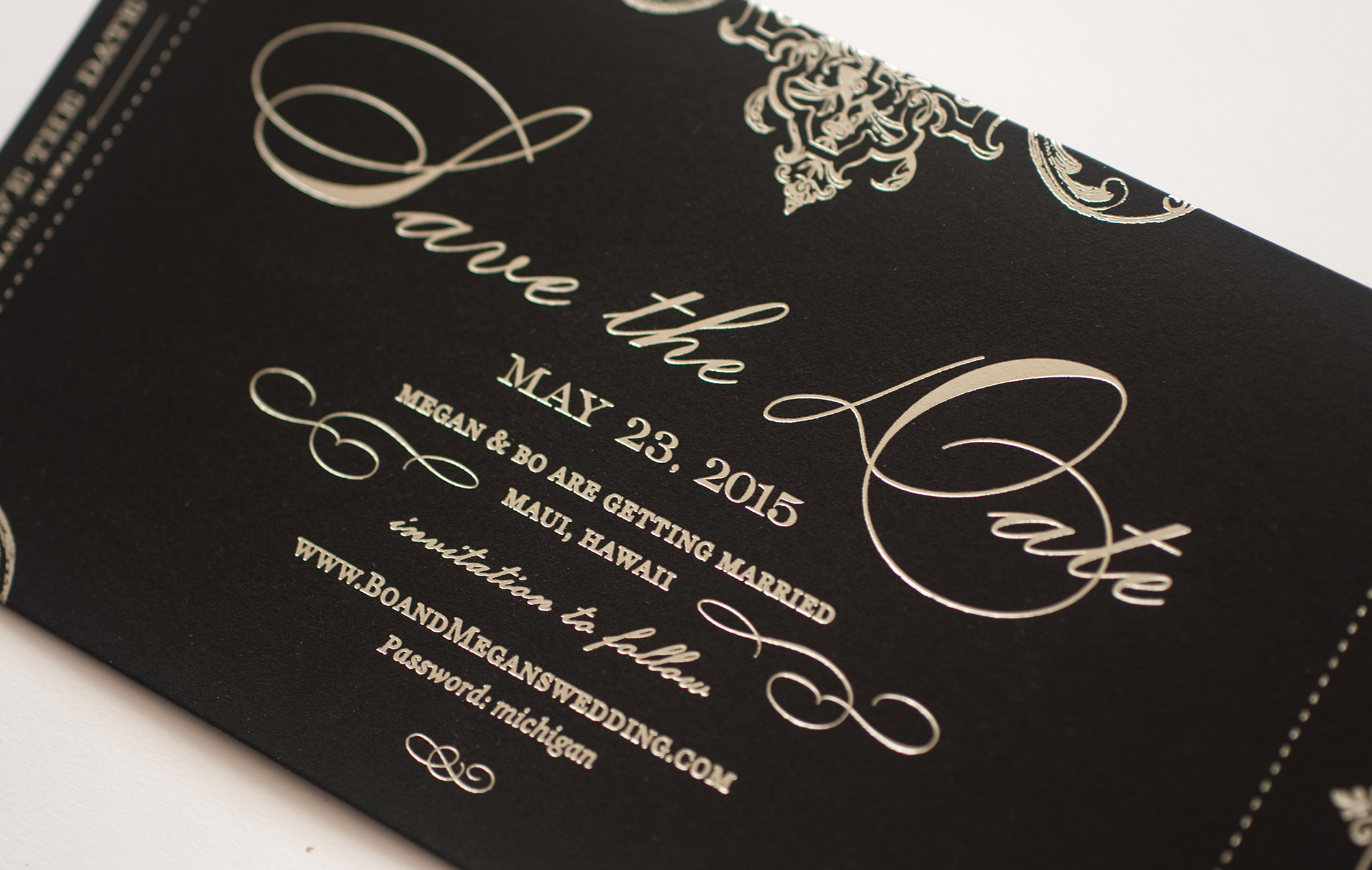 Save the date typography lettering