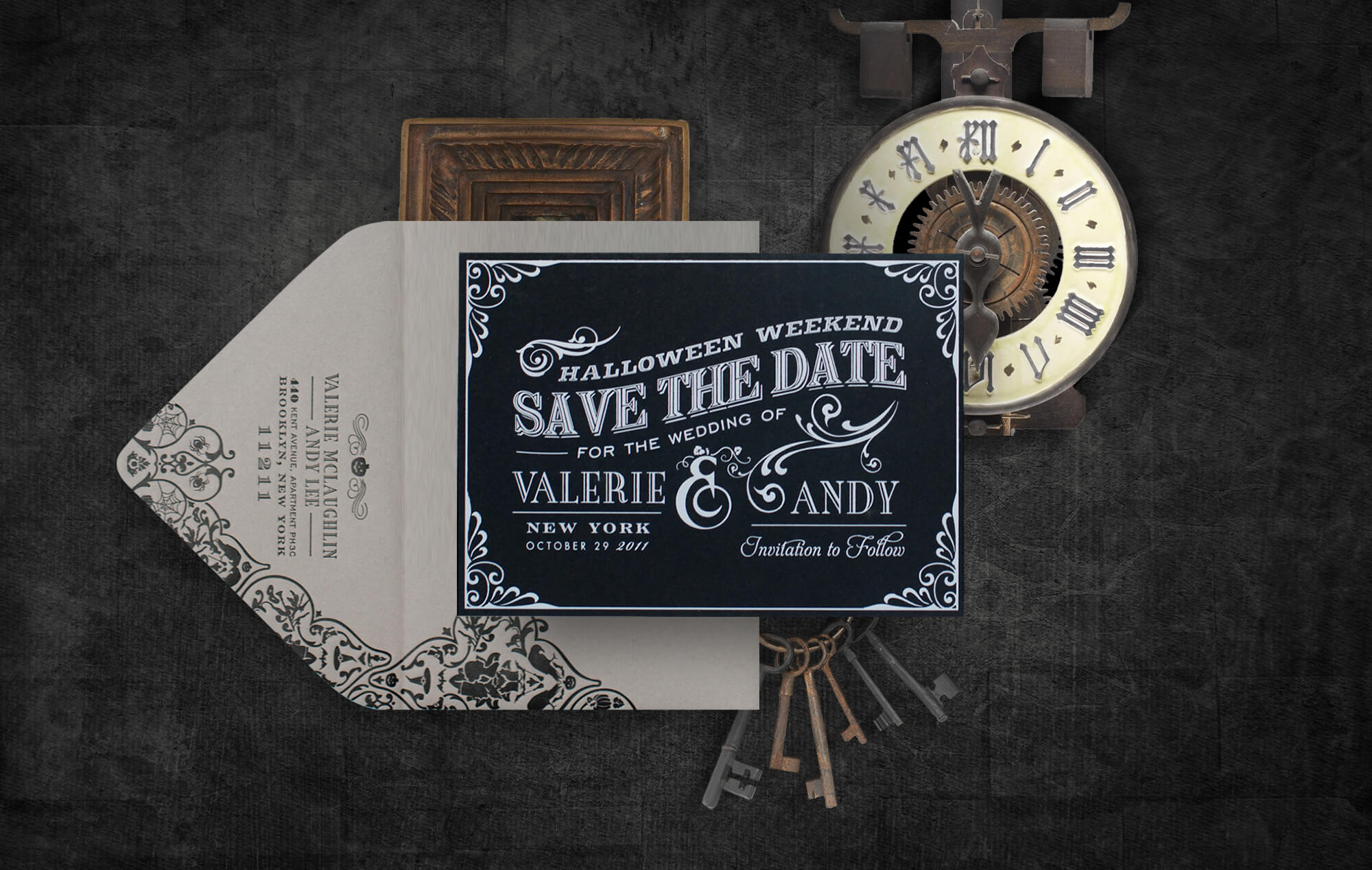 Spooky Halloween save the date