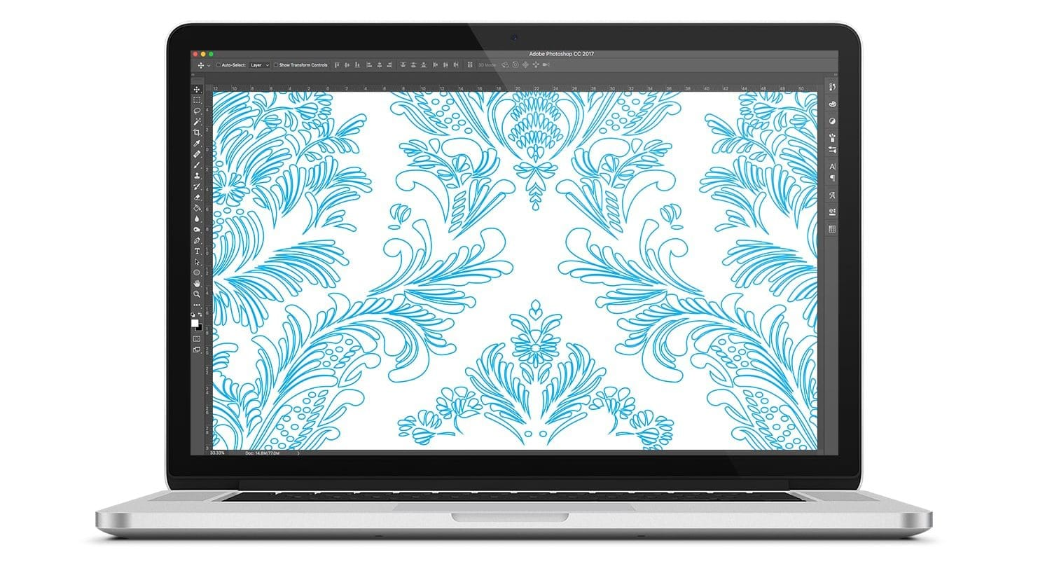 Damask pattern design