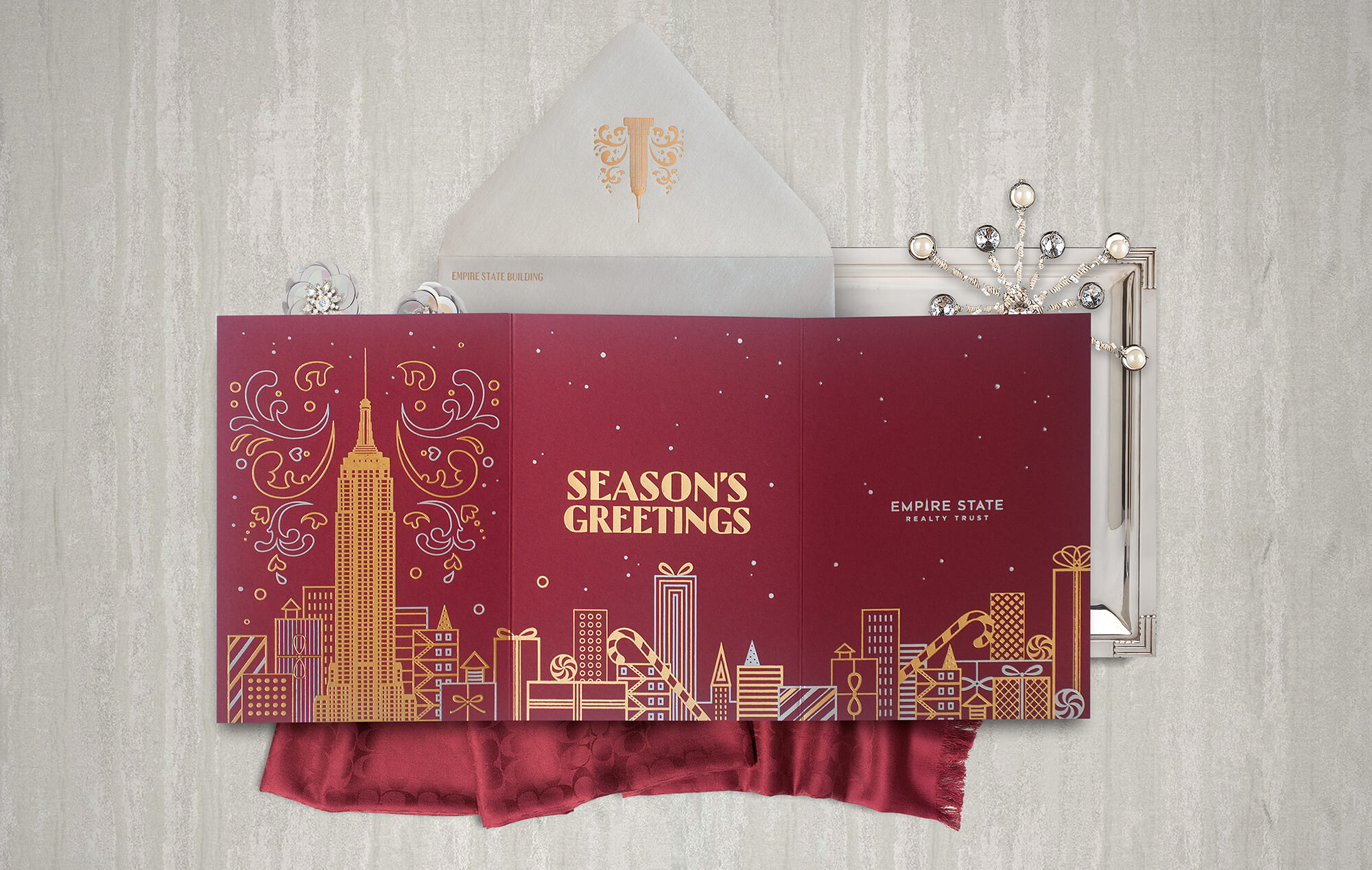 Empire State Building holiday card