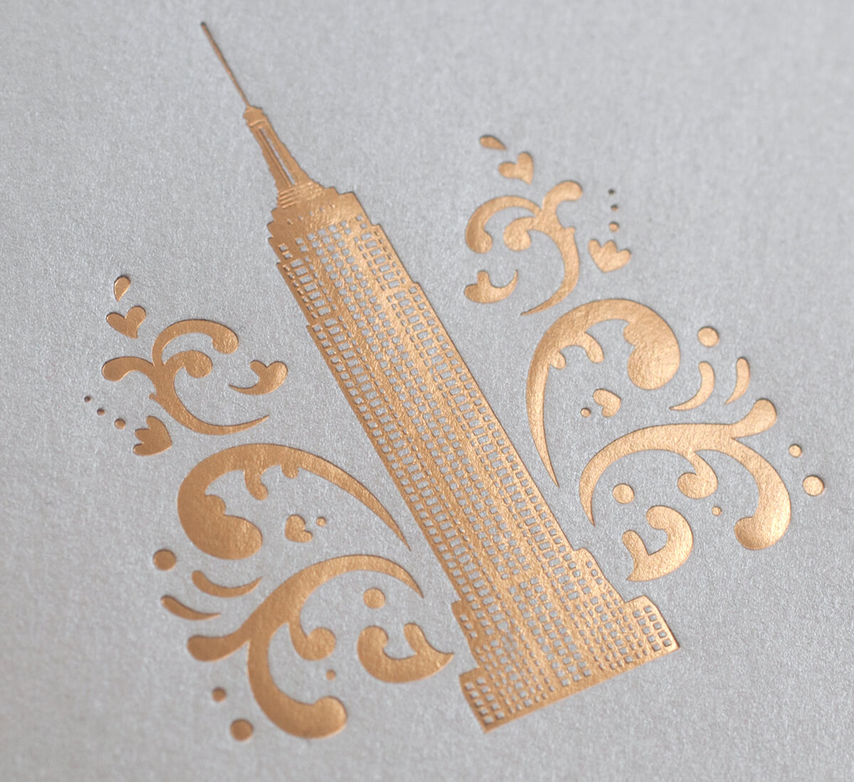 Gold foil Empire State Building