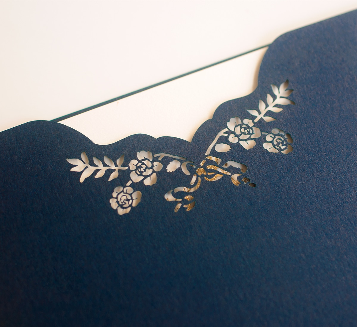 Laser cut sleeve detail