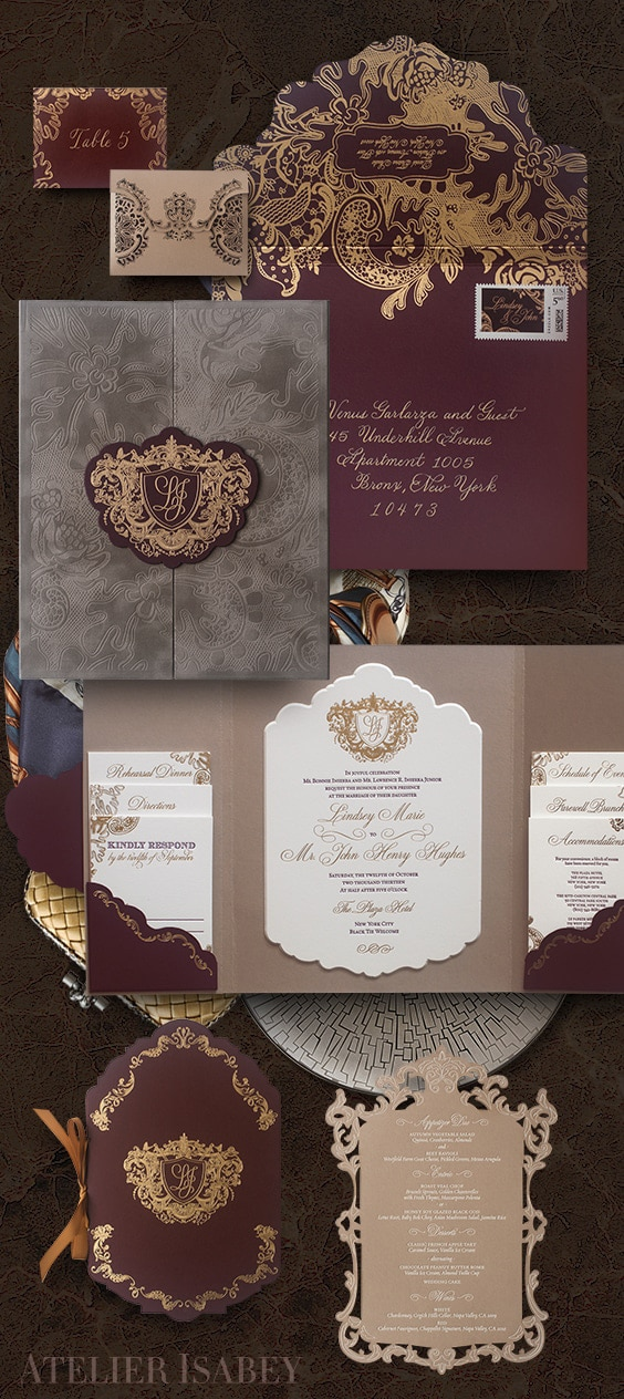 Plaza Hotel wedding invitation