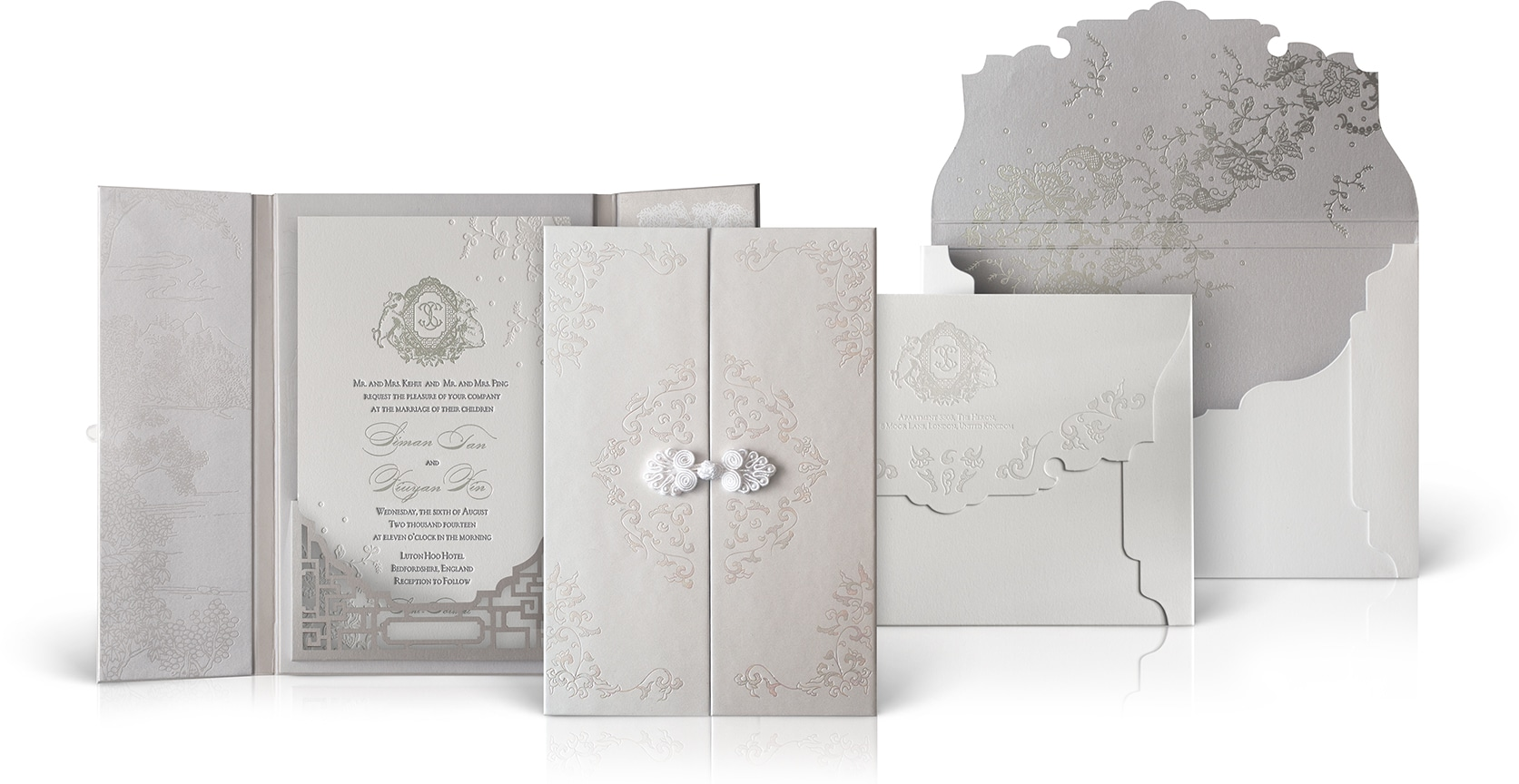 Luton Hoo Hotel wedding invitation